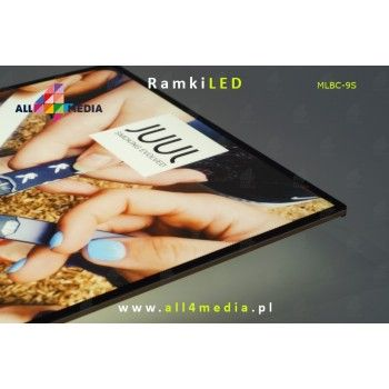 LED frame - wall - Gold A4 / A3 / A2 / A1 / 6090/60120