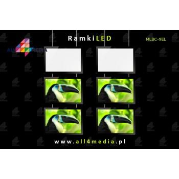 Ramka LED Na Witryny 6xA4...