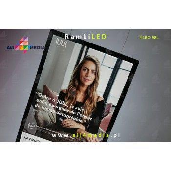 Rama LED A4-B1-Witryny / bez systemu podwieszenia