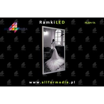 LED Magnetic A1 frame 617x863mm Silver + White
