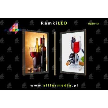 LED Magnetic A2 frame 443x617mm Gold + Black