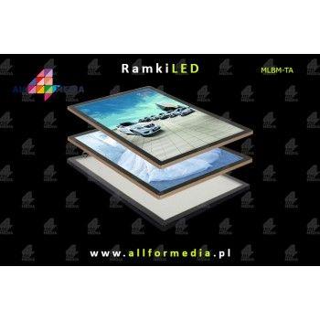 Ramka LED Magnetic 60x80cm Gold+Black