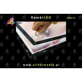 LED Magnetic 60x80cm Gold + Black frame