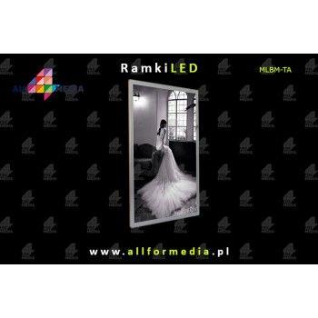 Ramka LED Magnetic 60x90cm Silver+White
