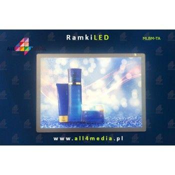 LED Magnetic 60x90cm Silver + White frame