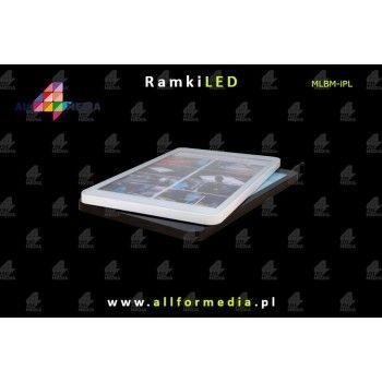LED Magnetic-White 540x940mm white frame