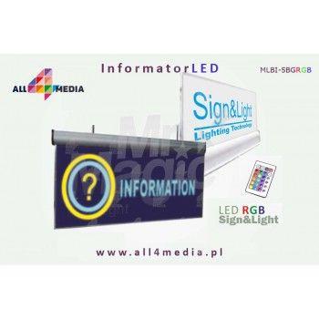 Informator LED RGB 10mm / podwieszany do sufitu