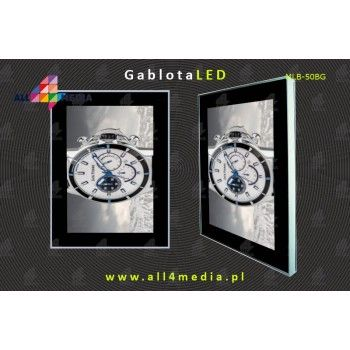 Cassette-Display-Outdoor LED-IP65-A2-B0 locked with a key