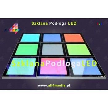 Szklana Podłoga LED RGB 500x500x44mmm