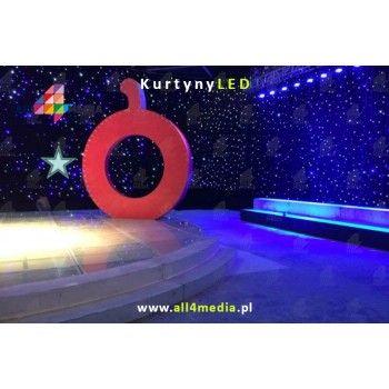 Kurtyna LED Czarna-3x6m 18m2