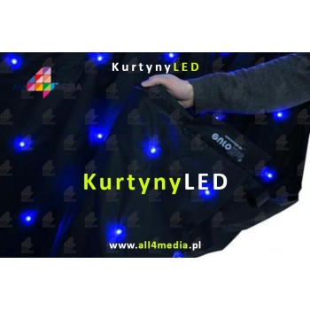 Black LED curtain - 3x8m 24m2