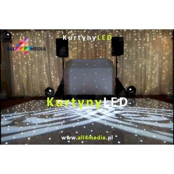Kurtyna LED Biała-3x4m 12m2 + Szyfon