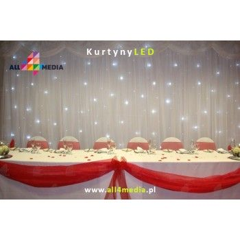 Curtain LED white-3x4m 12m2 + Chiffon