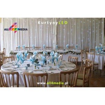 Kurtyna LED Biała-3x6m 18m2 + Szyfon