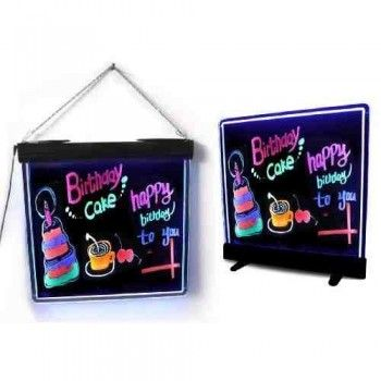 LED Fluorescent Board - Black, standing and hanging
