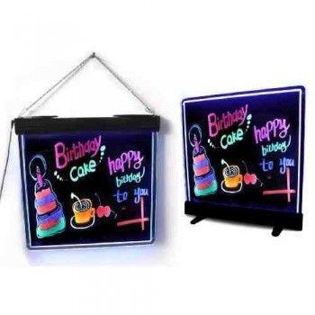 Tablica Fluorescencyjna LED - Czarna stojąco-wisząca
