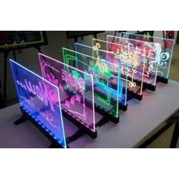 Fluorescent LED board - Transparent, standing and hanging