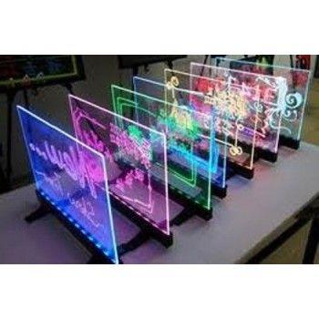 Tablica Fluorescencyjna LED - Transparentna stojąco-wisząca